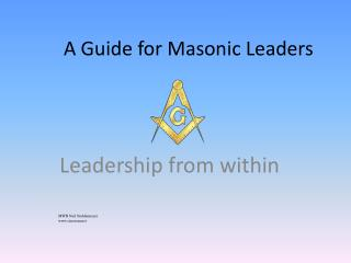 A Guide for Masonic Leaders