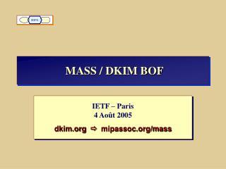 MASS / DKIM BOF