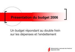 Présentation du budget 2006