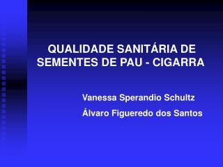 QUALIDADE SANITÁRIA DE SEMENTES DE PAU - CIGARRA