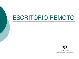 ESCRITORIO REMOTO