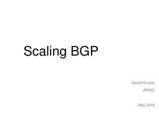 Scaling BGP