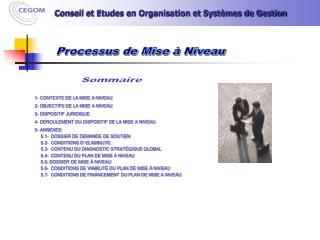 Processus de Mise � Niveau