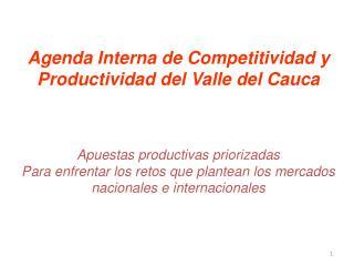 Agenda  Interna de Competitividad y Productividad del Valle del Cauca