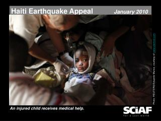 Haiti Earthquake Appeal January 2010