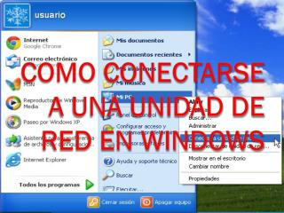 Como conectarse a una unidad de red en Windows