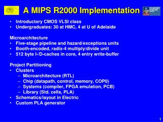 A MIPS R2000 Implementation
