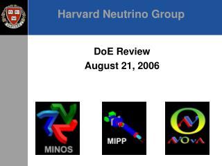 Harvard Neutrino Group