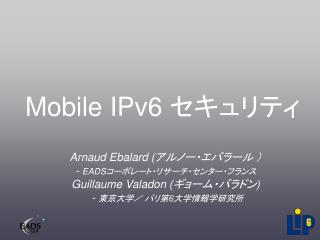 Mobile IPv6  セキュリティ