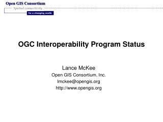 OGC Interoperability Program Status
