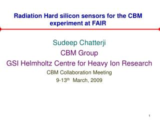 Radiation Hard silicon sensors for the CBM experiment at FAIR