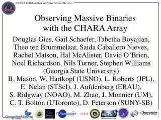 Observing Massive Binaries with the CHARA Array