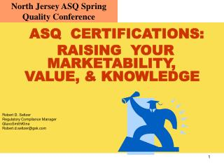 North Jersey ASQ Spring Quality Conference