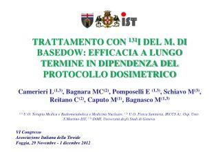 VI Congresso Associazione Italiana della Tiroide Foggia, 29 Novembre - 1 dicembre 2012