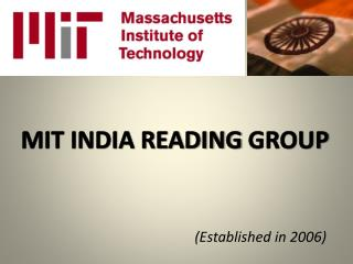 MIT INDIA READING  GROUP