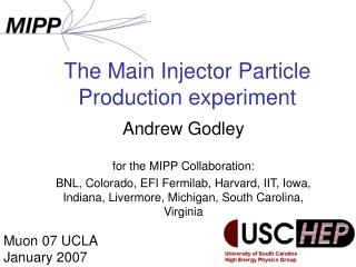 The Main Injector Particle Production experiment