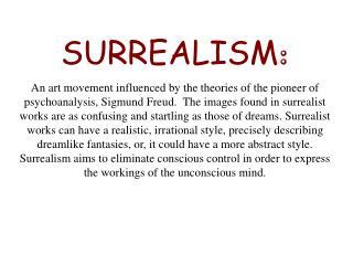 SURREALISM :