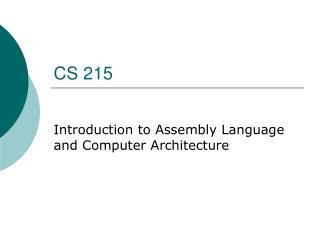 CS 215