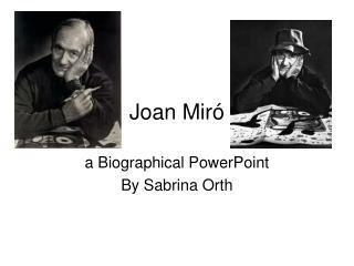 Joan Mir ó