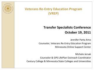 Veterans Re-Entry Education Program  (VREP)