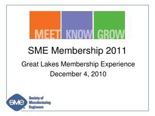 SME Membership 2011