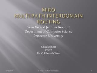 MIRO Multi-path Interdomain ROuting