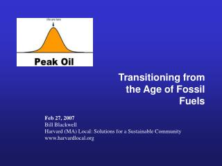Transitioning from the Age of Fossil Fuels