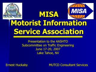MISA Motorist Information Service Association