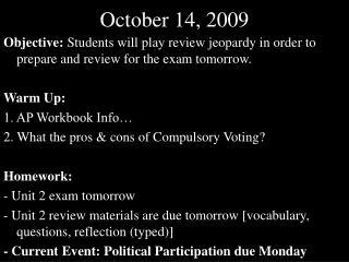 October 14, 2009