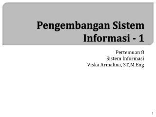 Pengembangan Sistem Informasi  - 1