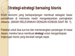 S trategi-strategi bersaing bisnis