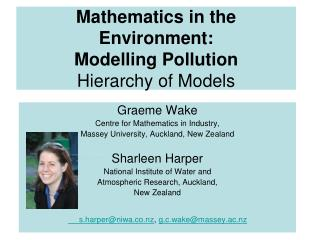 Mathematics in the Environment: Modelling Pollution Hierarchy of Models