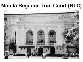 Manila Regional Trial Court RTC