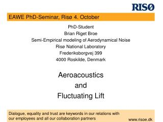 EAWE PhD-Seminar, Risø 4. October
