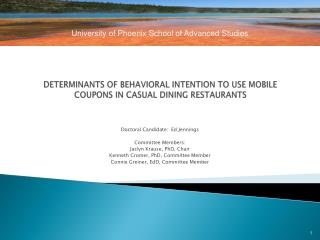 DETERMINANTS OF BEHAVIORAL INTENTION TO USE  MOBILE COUPONS  IN CASUAL DINING RESTAURANTS