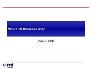 MI.GOV Site Design Evaluation