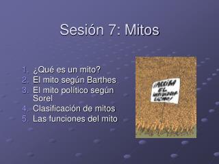 Sesión 7: Mitos