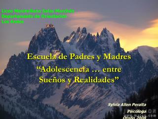 Liceo Maximiliano Salas Marchán Departamento de Orientación Los Andes