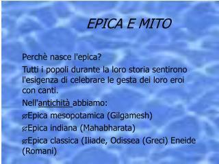 EPICA E MITO