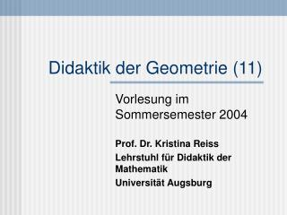 Didaktik der Geometrie (11)