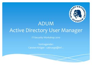 ADUM   Active Directory User Manager