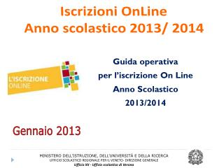 Iscrizioni  OnLine Anno scolastico 2013/ 2014