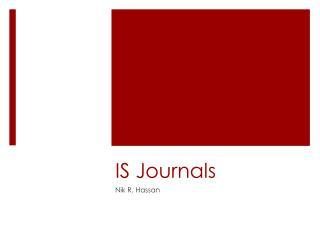 IS Journals