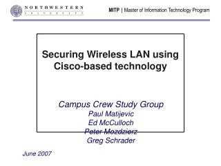 Securing Wireless LAN using  Cisco-based technology