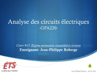 Cours #12