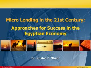Micro Lending in the 21st Century: Approaches for Success in the Egyptian Economy