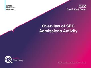 Overview of SEC Admissions Activity