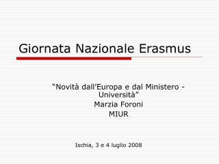 Giornata Nazionale Erasmus