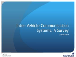Inter-Vehicle Communication Systems: A Survey