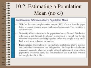 10.2: Estimating a Population Mean no